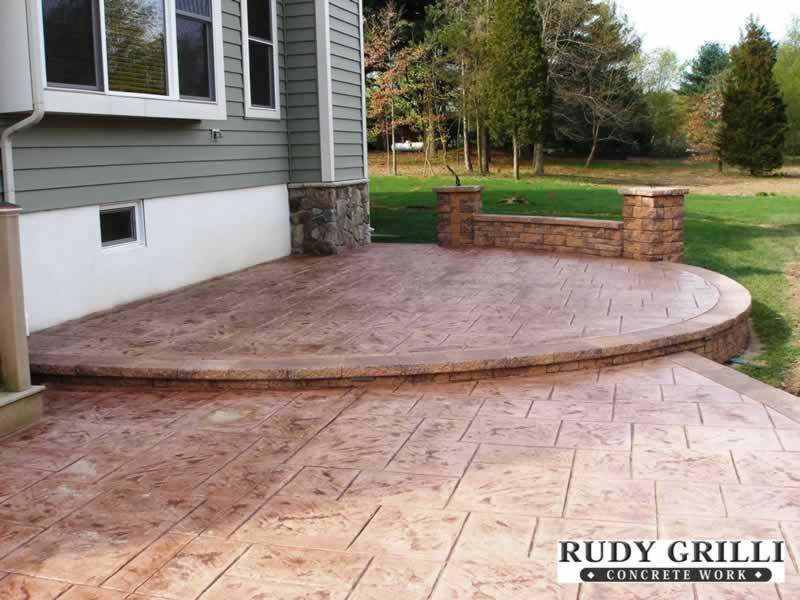 Concrete Patio Work : Rudy grilli concrete work stamped decorative