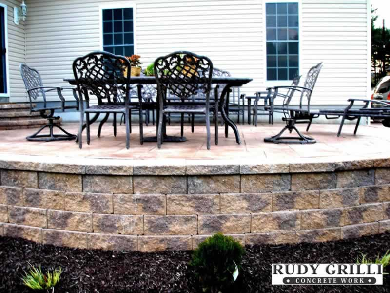 Delicieux Rudy Grilli Concrete Work Stamped Decorative Raised Patios Nj