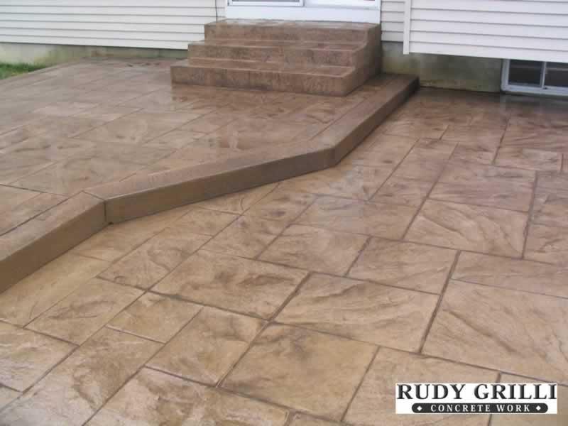 Raised Stamped Concrete Patio Icamblog